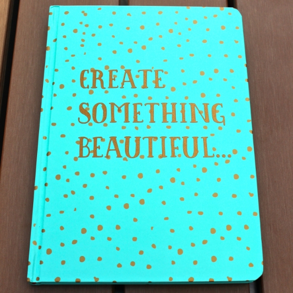 Create Something Beautiful DIY Personalized Notebook with vinyl and Silhouette Cameo