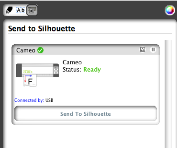 Send to Silhouette from Silhouette Connect