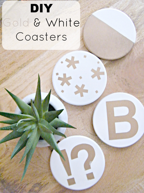 Gold and White Coasters