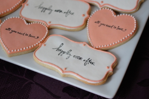 Stamped sugar cookies happily ever after
