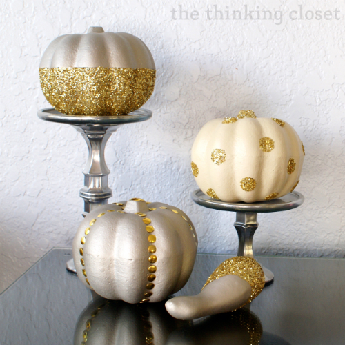 Glitter and Glam Pumpkins