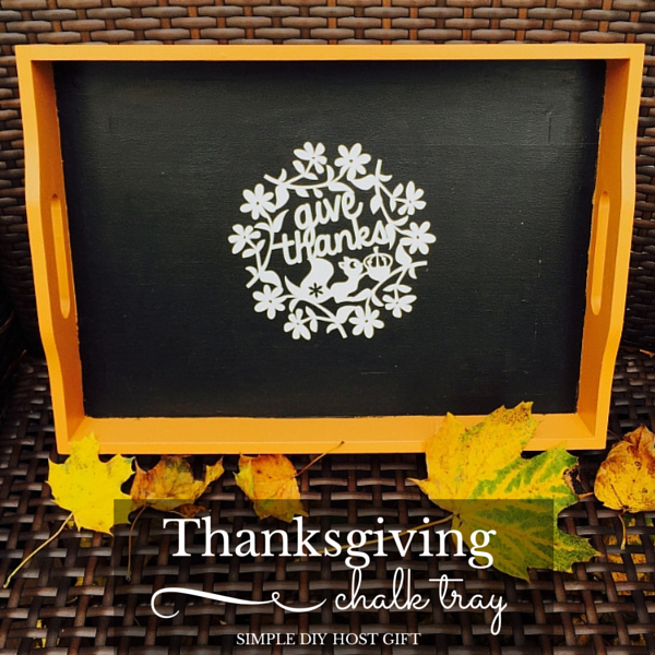 Thanksgiving Chalkboard Tray