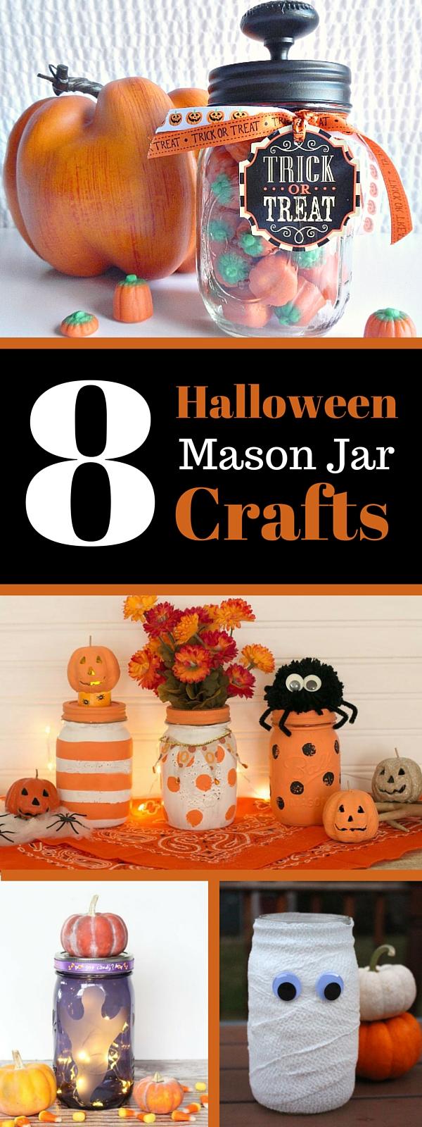 8 Halloween Mason Jar Crafts