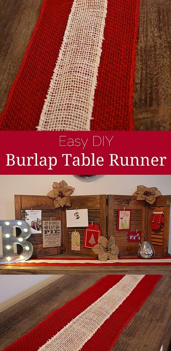Easy DIY Burlap Table Runner