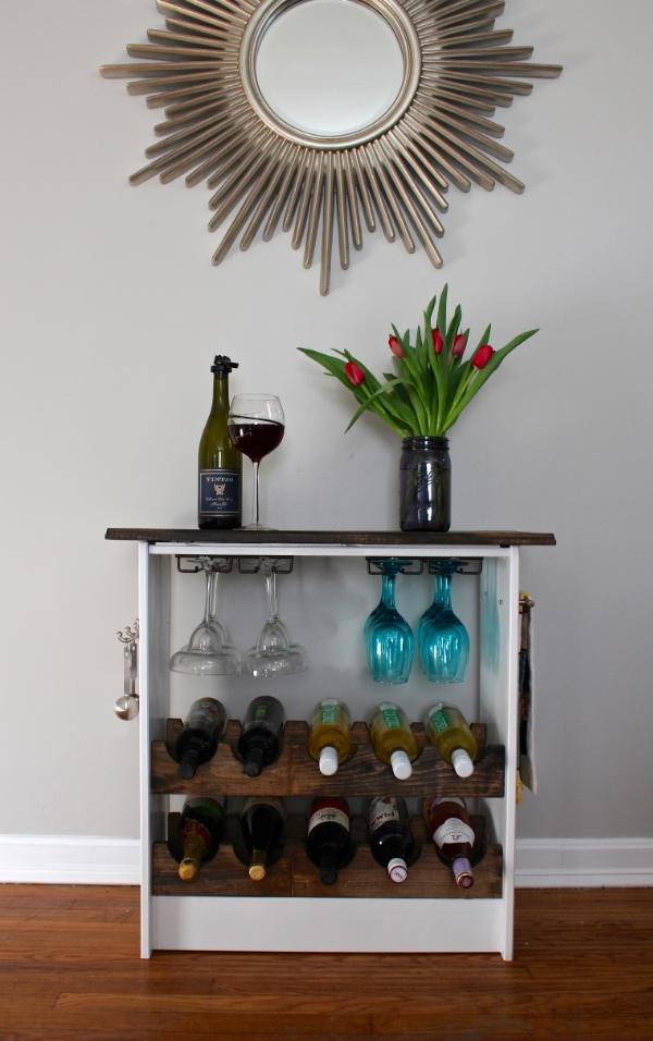 ikea hack wine rack