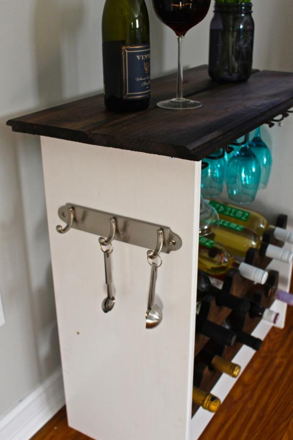 ikea hack wine rack with hooks