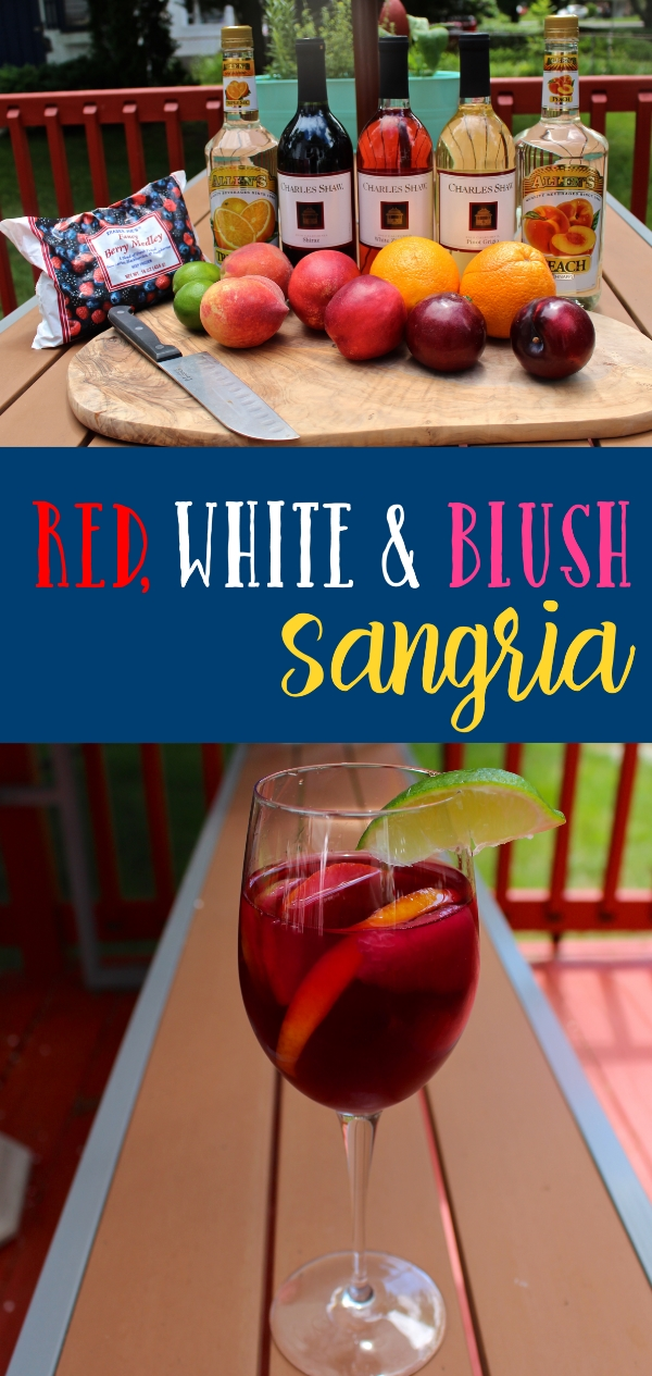 red white and blush sangria