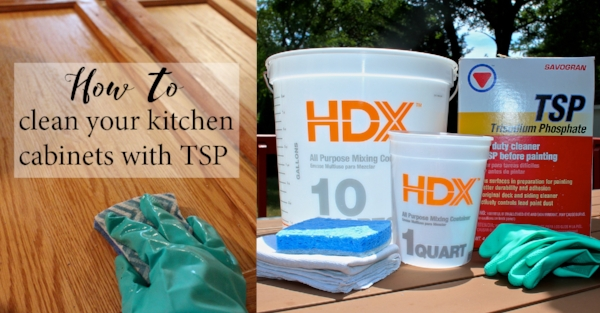How to clean your kitchen cabinets with TSP