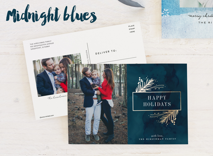 Midnight blue holiday cards
