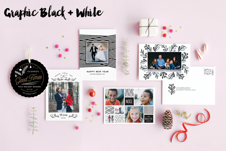 Graphic Black and White Cards