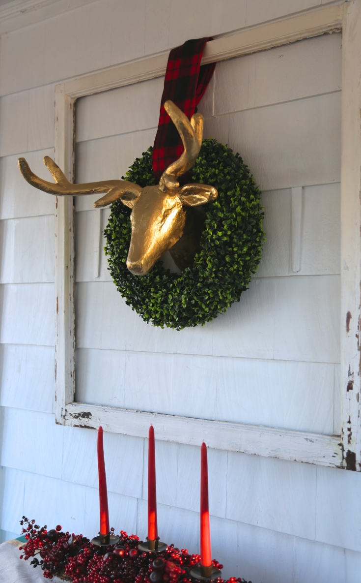 Mounted Gold deer head