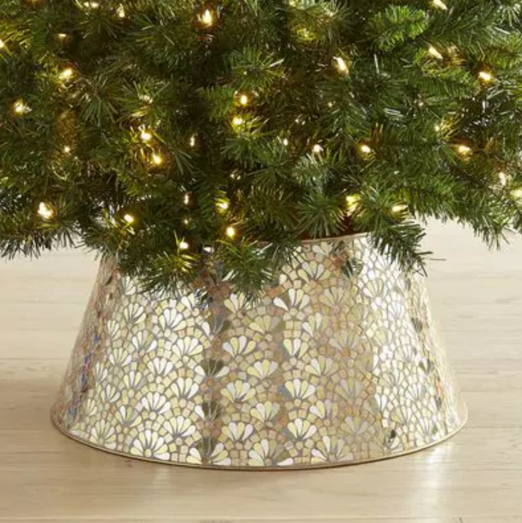 Gold and Silver Mosiac Tree Collar