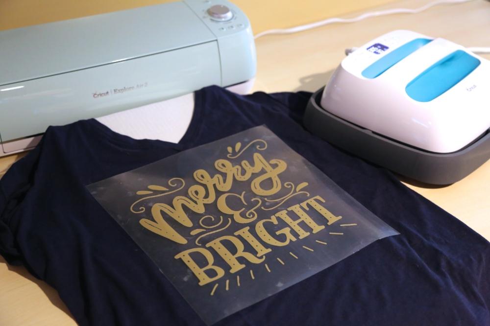 Merry and Bright DIY Tshirt