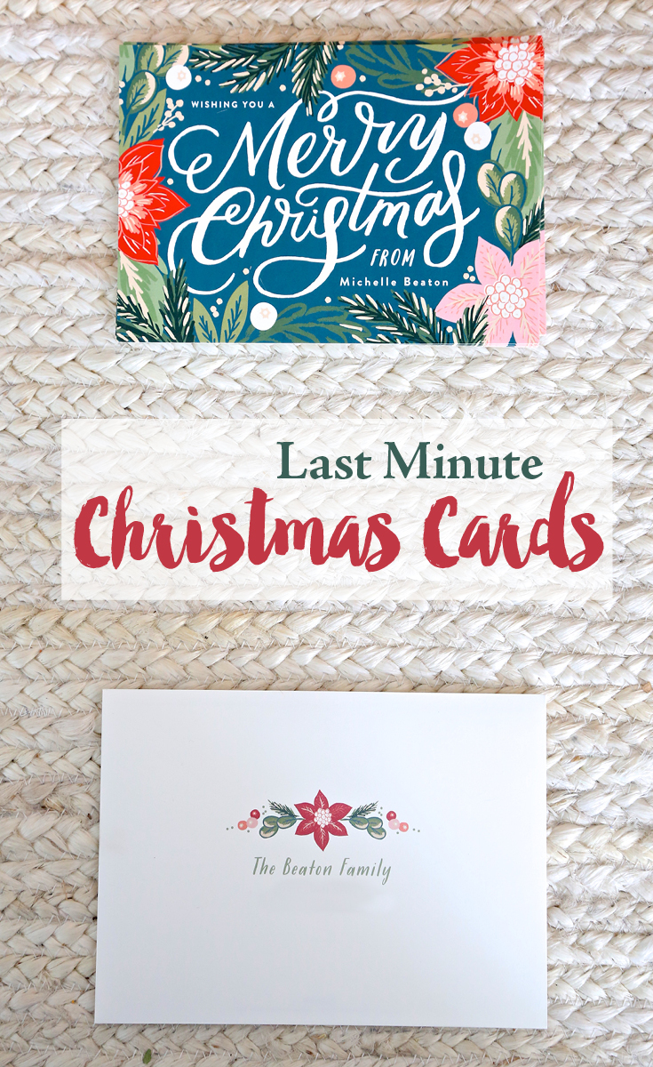 Last Minute Christmas Cards from Minted
