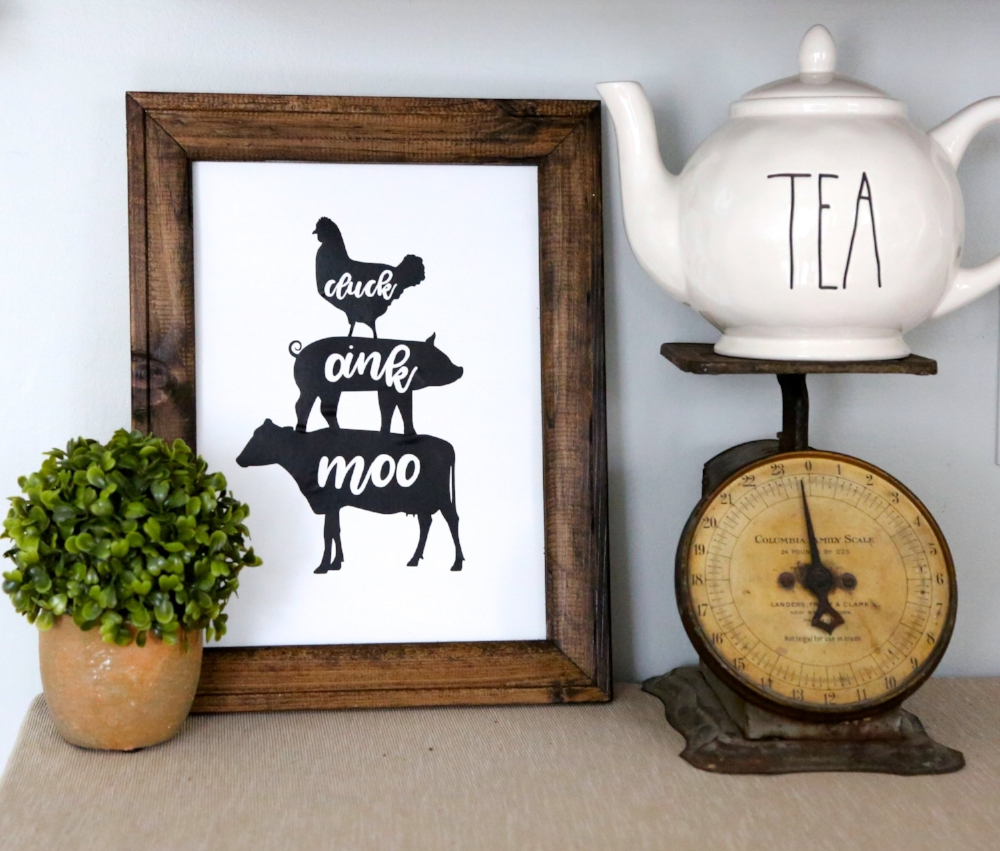 How to make a reverse canvas and farmhouse kitchen sign