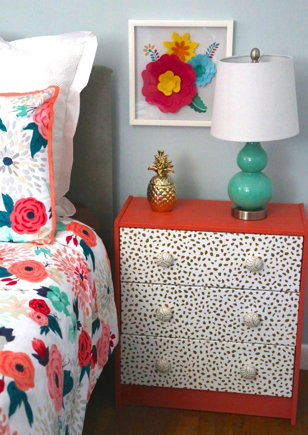 DIY Wallpapered Drawers