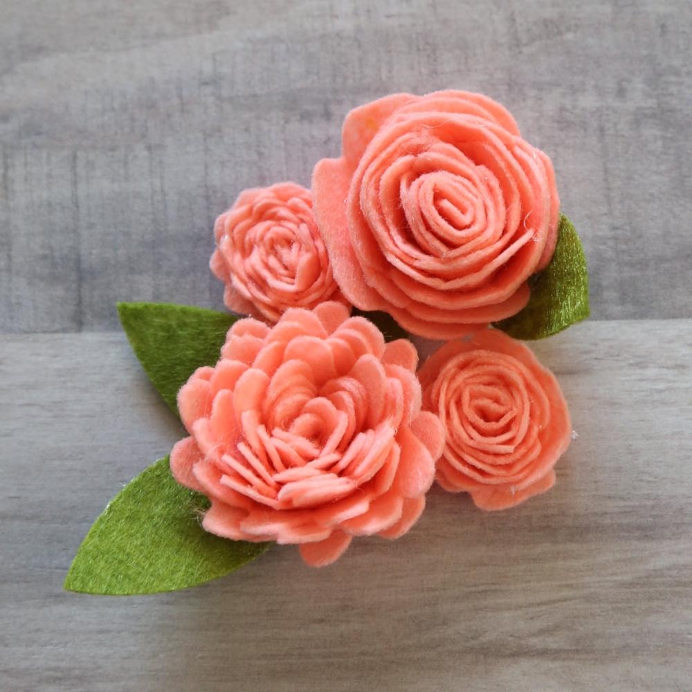 How to make felt flowers with cricut