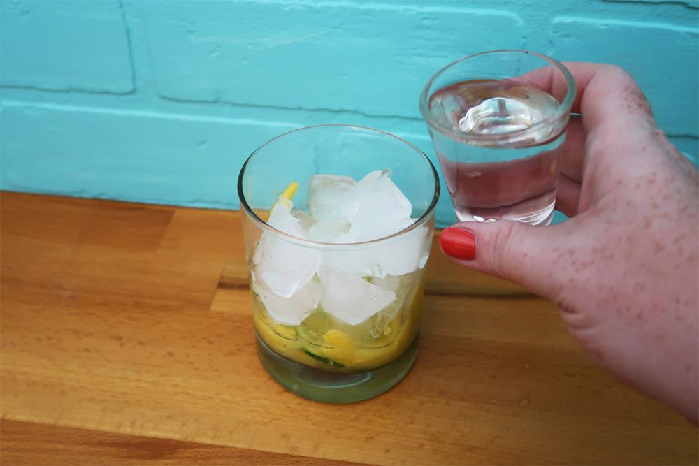 Coconut rum mojitos