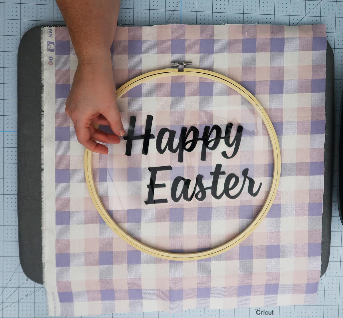 Embroidery Hoop Easter Wreath9
