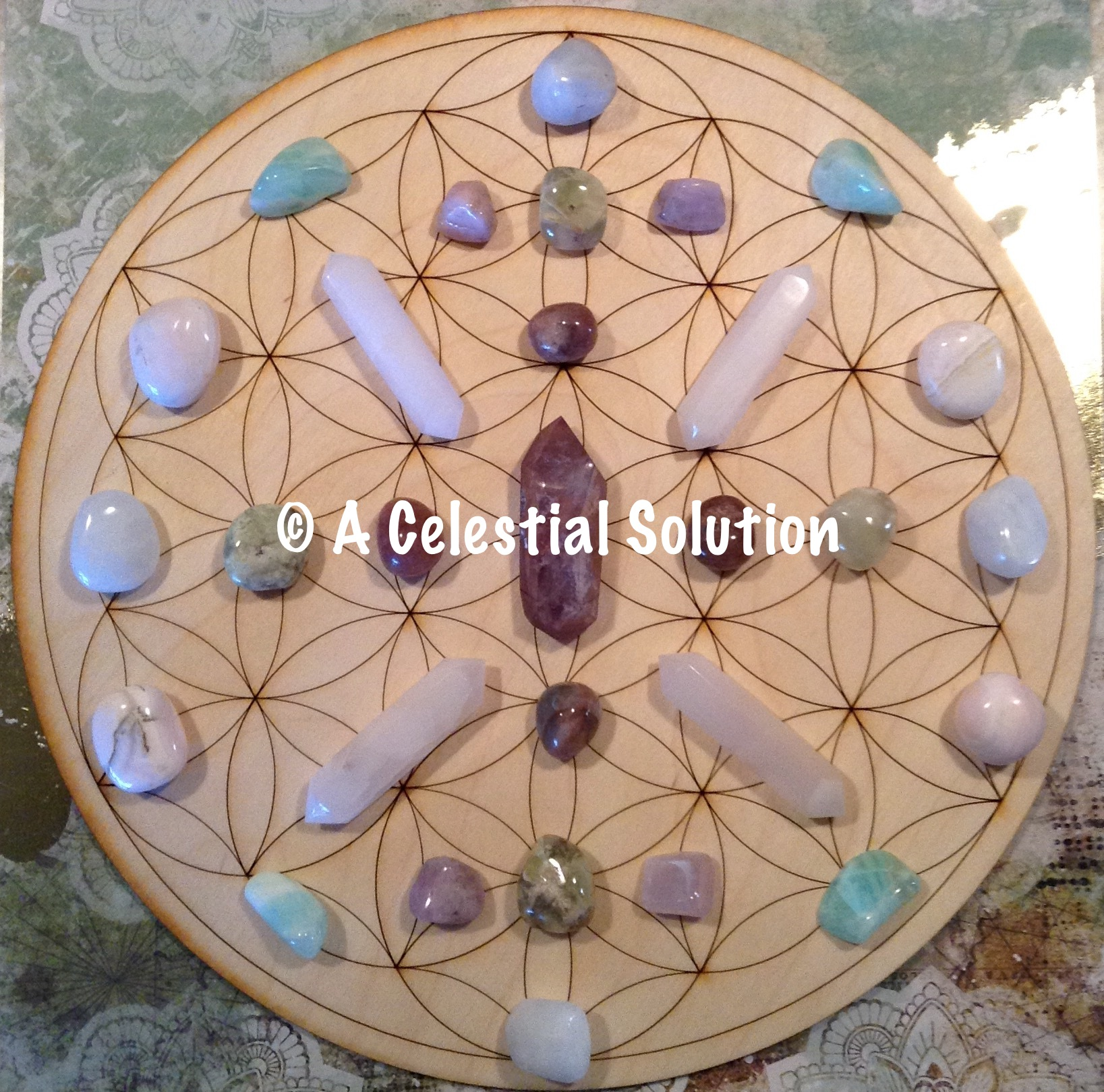 Crystal grid Created for the Winter Solstice, 2017