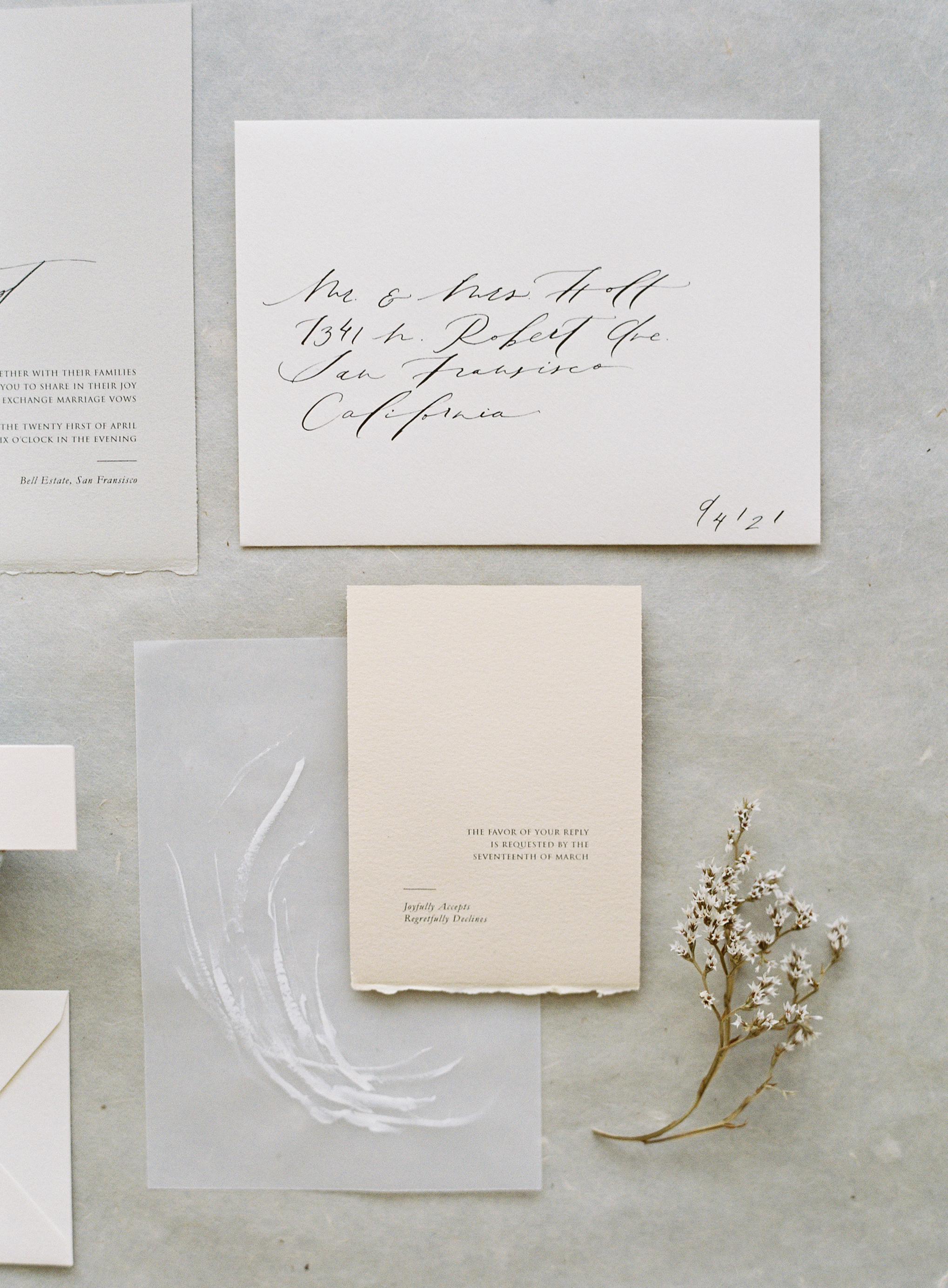minimalist wedding inspiration