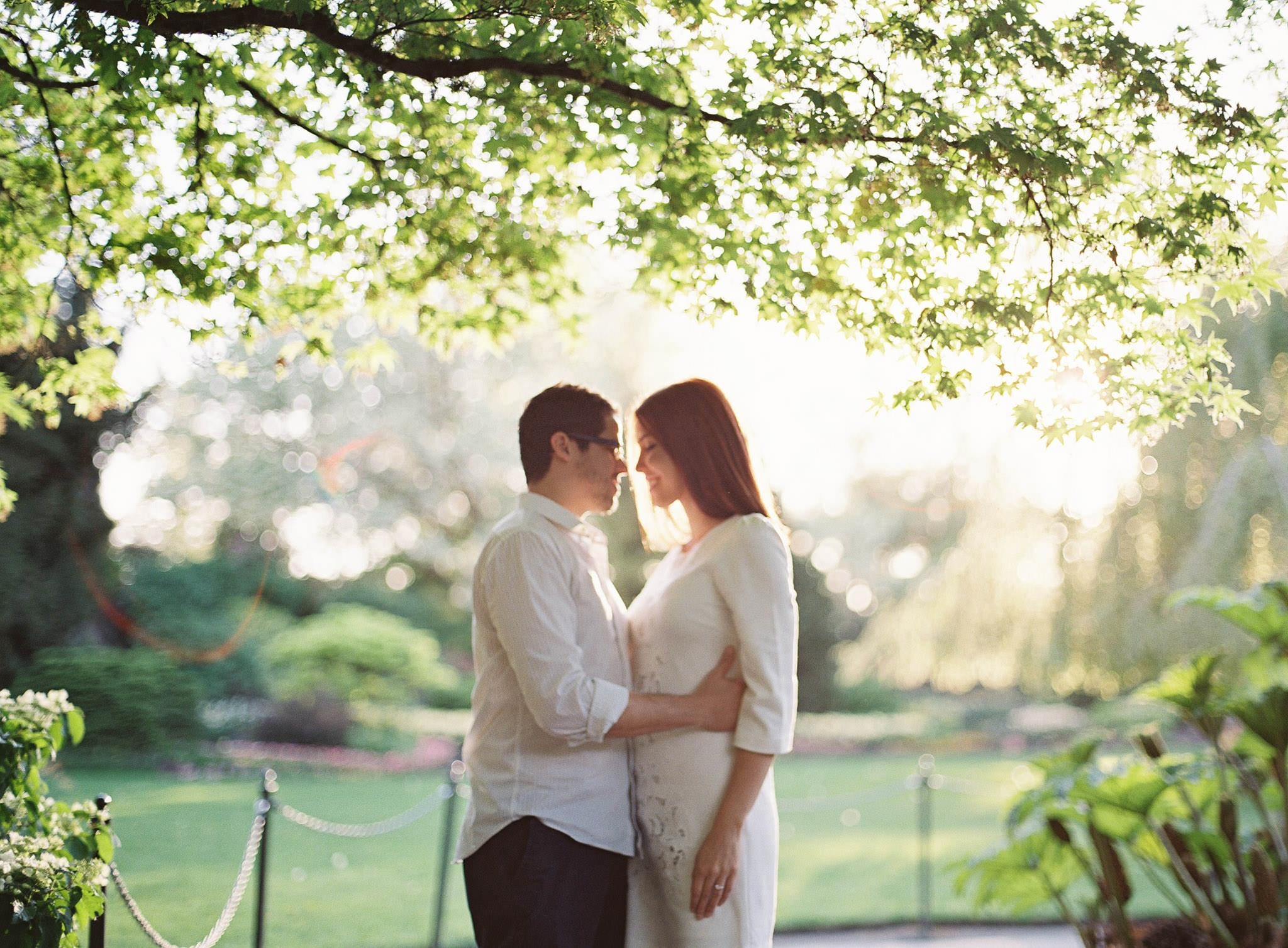 Surprise proposal at Queen Elizabeth Park in Vancouver