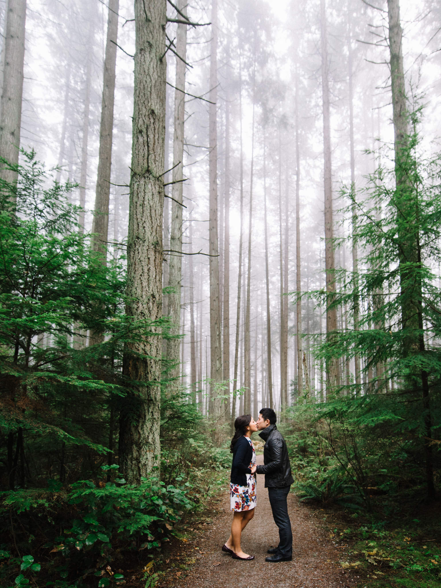Vancouver engagement session in the forest