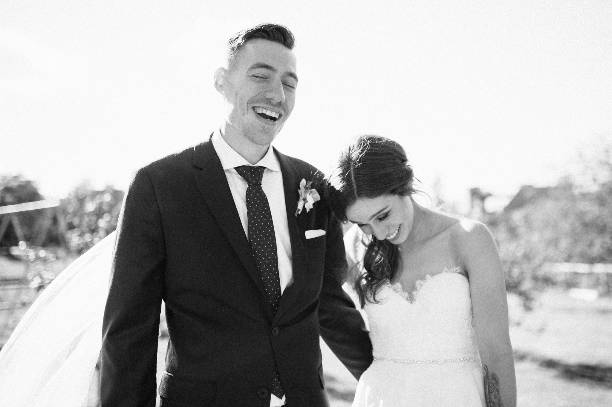 Candid Vancouver wedding photography - bride and groom portraits