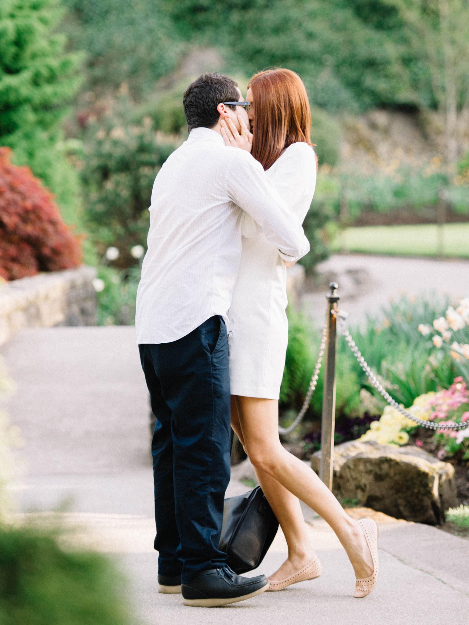 Queen Elizabeth Park surprise proposal photography