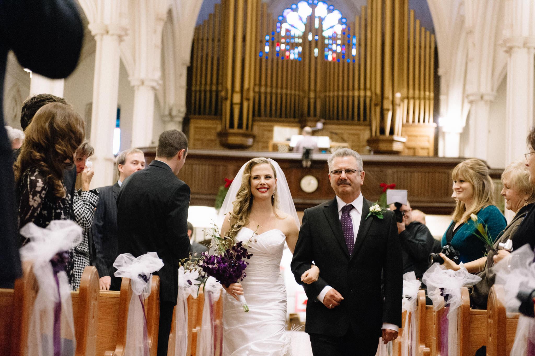 Toronto Saint Basil's Church wedding