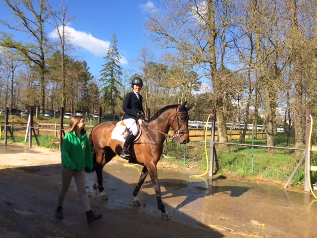 After the 1* Grand Prix with Eliane