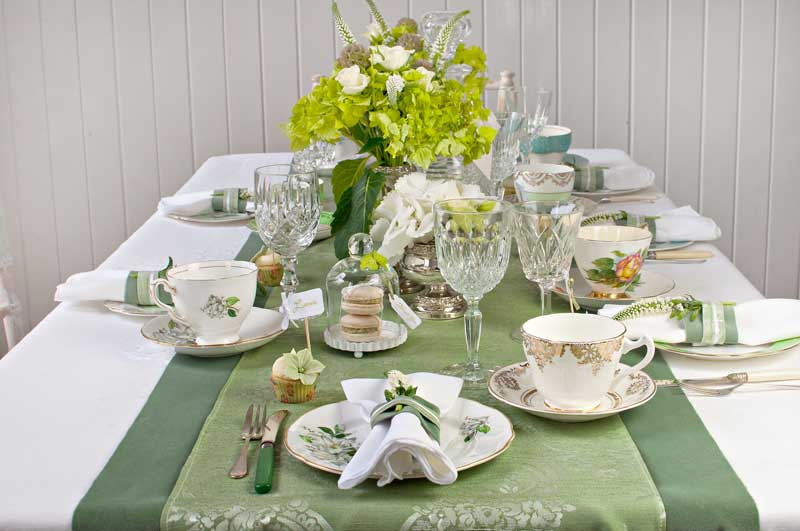 Vintage wedding afternoon tea party by The Chipping Norton Tea Set