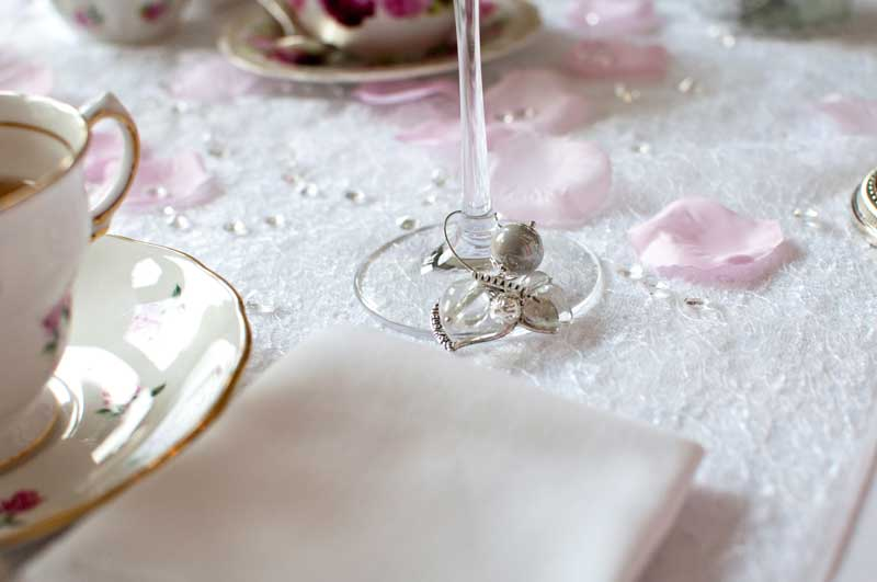 Wedding wine charms by The Chipping Norton Tea Set