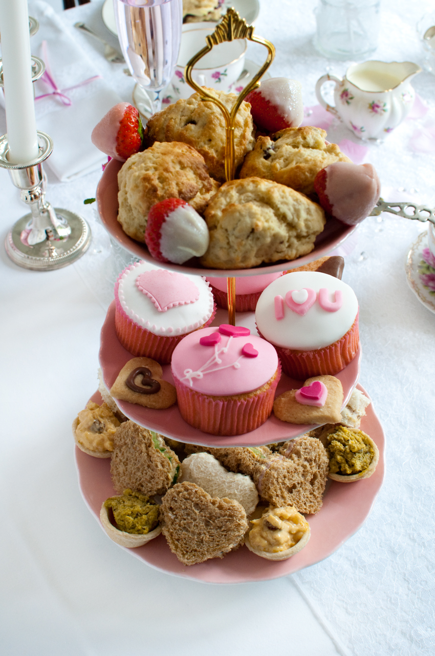 Three tier food selection by The Chipping Norton Tea Set