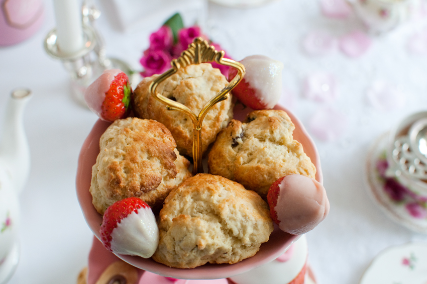 Heart shaped scones by The Chipping Norton Tea Set