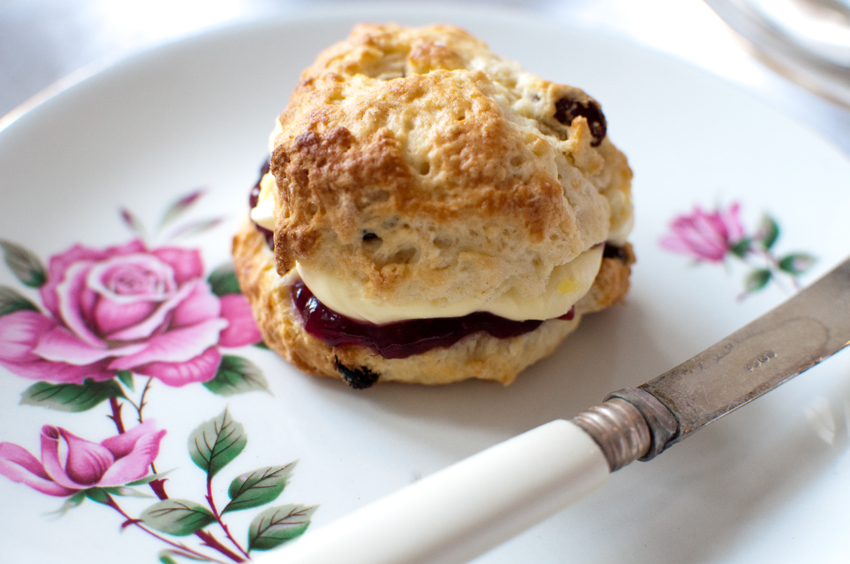 Heart shaped scone by The Chipping Norton Tea Set