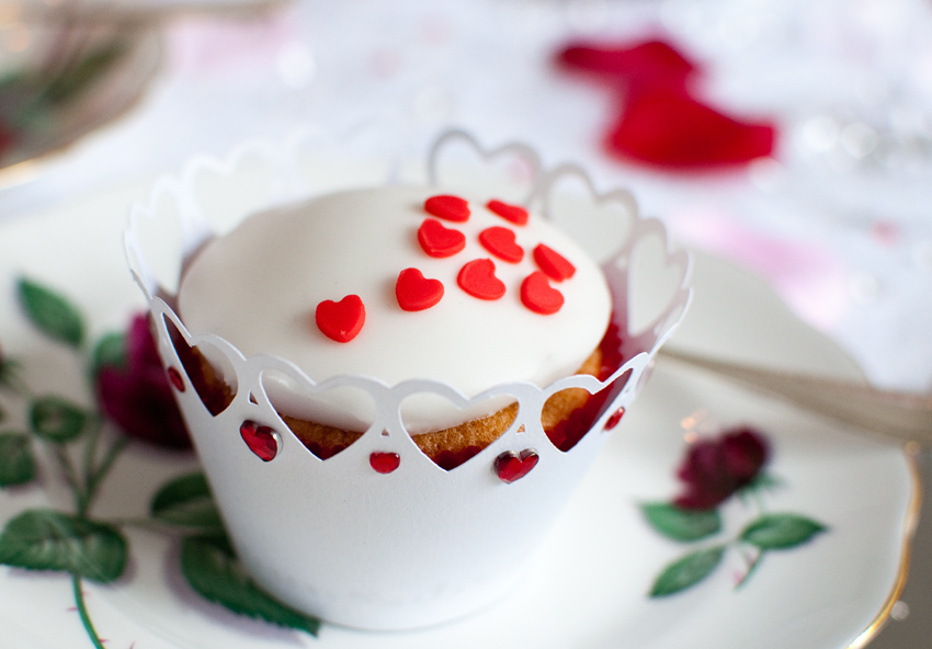Valentine cupcake by The Chipping Norton Tea Set