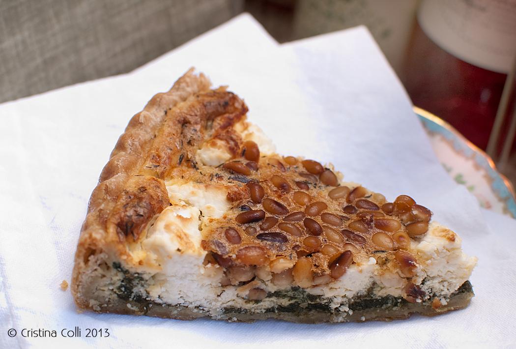 Spinach, feta & pinenut quiche by The Chipping Norton Tea Set