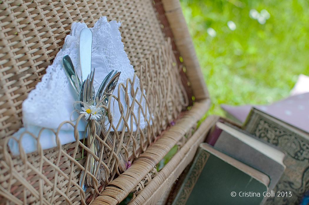 Vintage picnic napkin by The Chipping Norton Tea Set