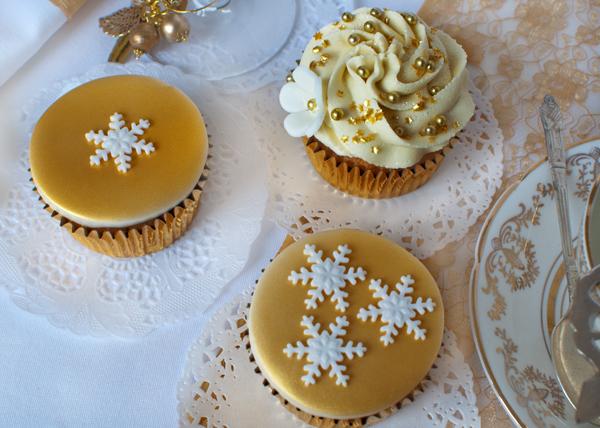 3 gold cupcakes The Chipping Norton Tea Set.jpg