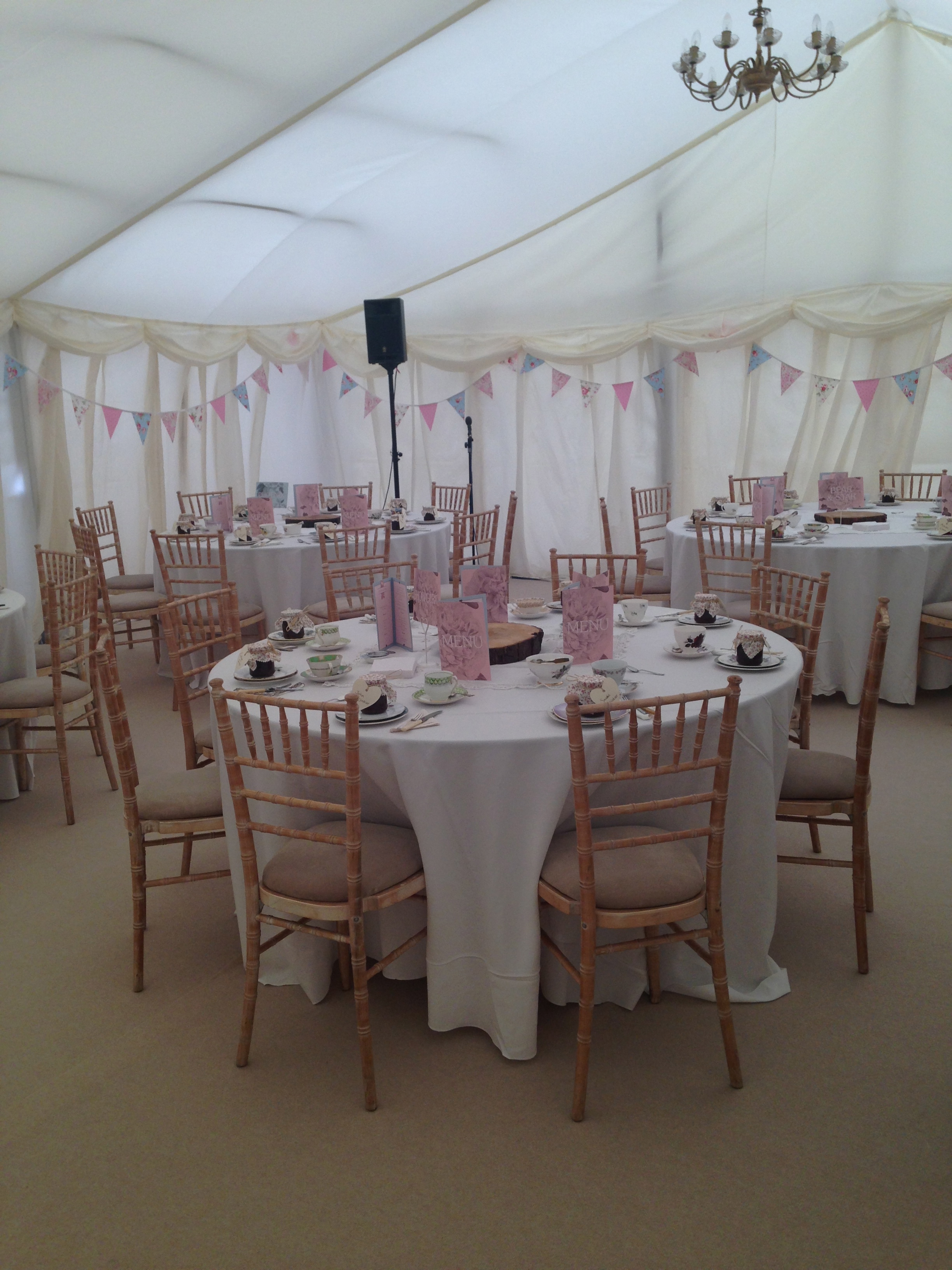 The stunning marquee at The Barn at Chilton