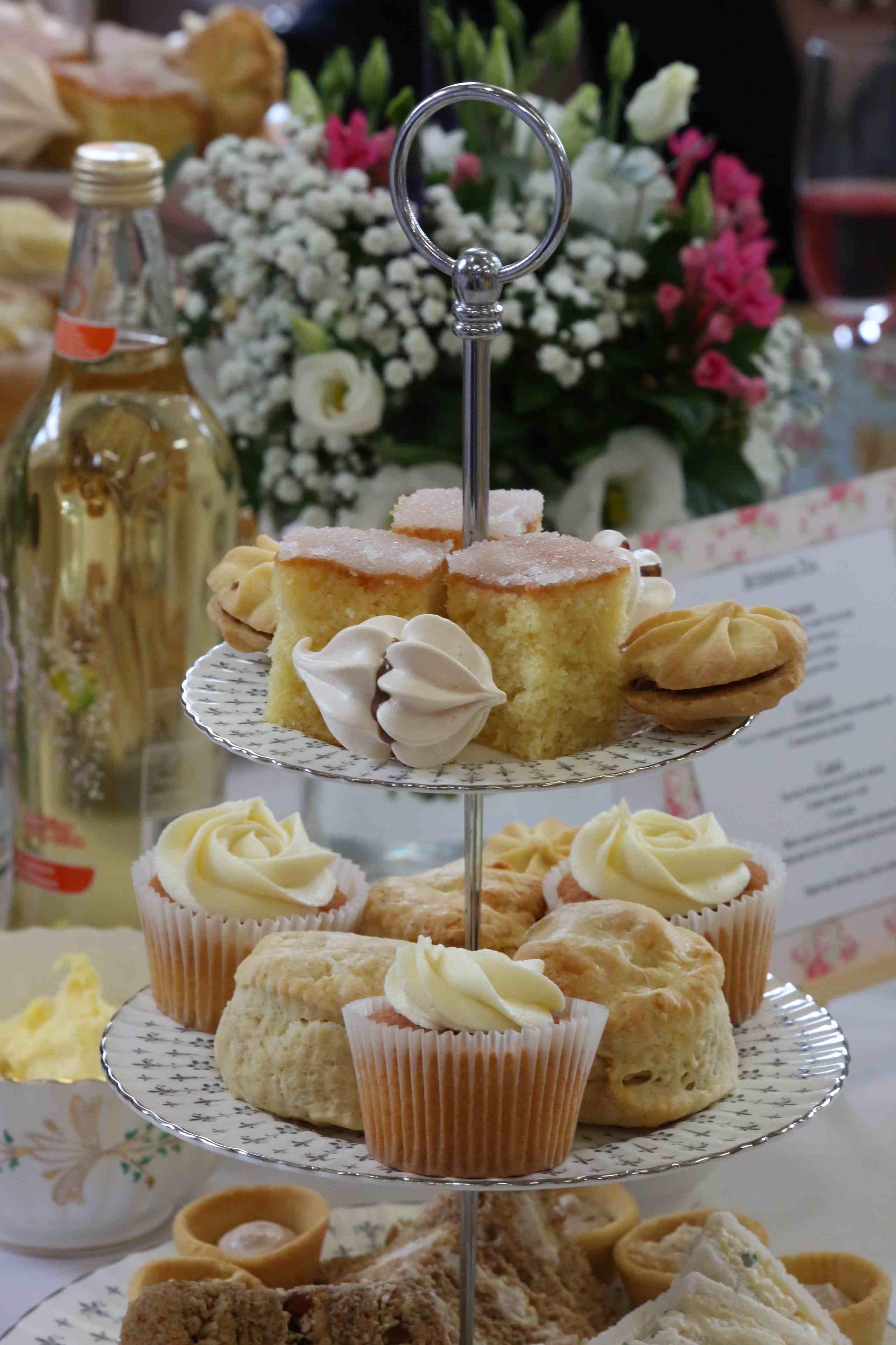 The afternoon tea selection for Sarah & Bens wedding