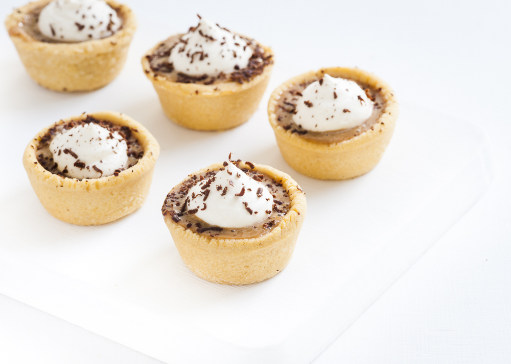 Our mini banoffee pie canapés