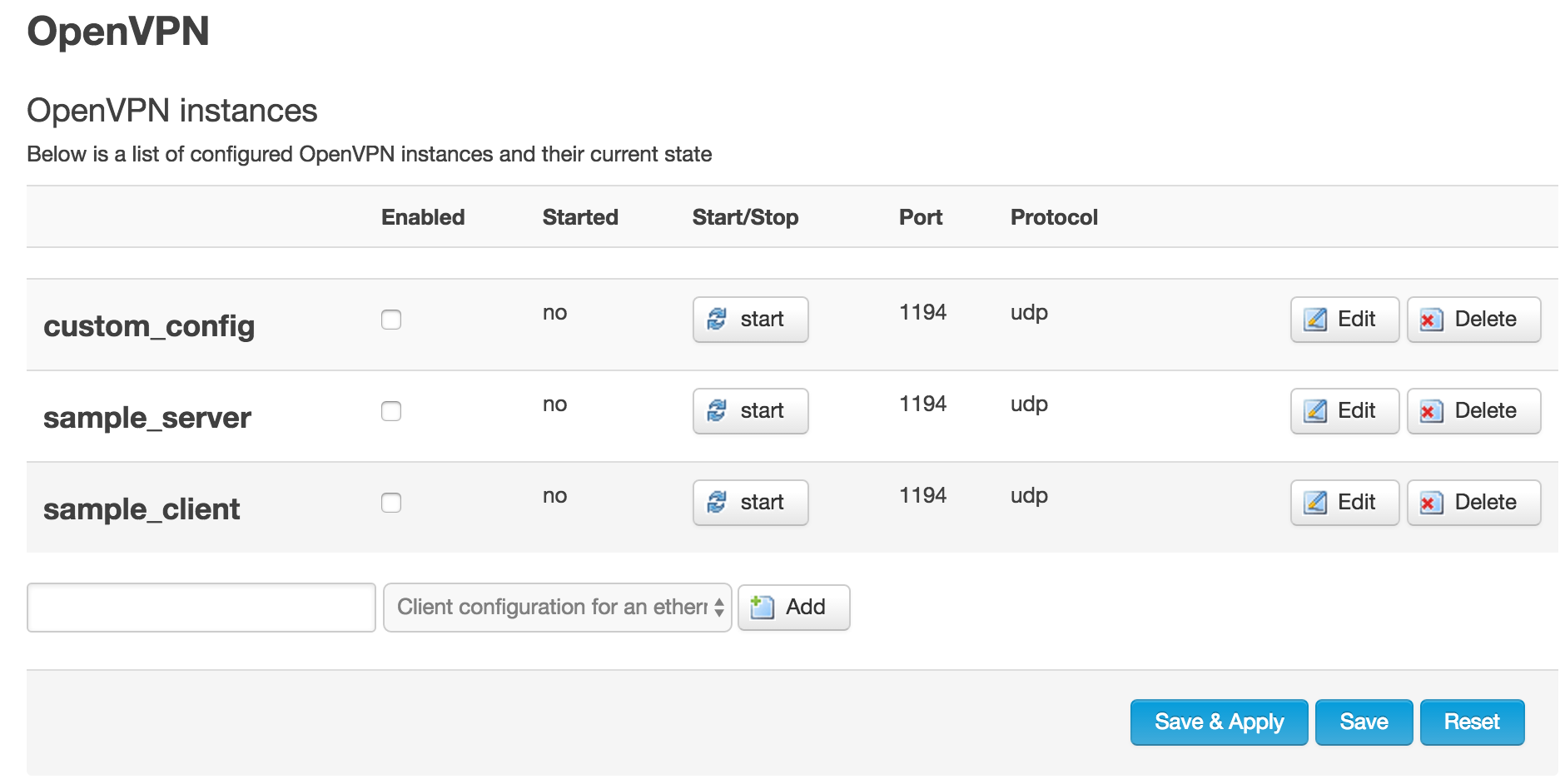 Confusing interface to configure another OpenVPN Service on the Anonabox Pro
