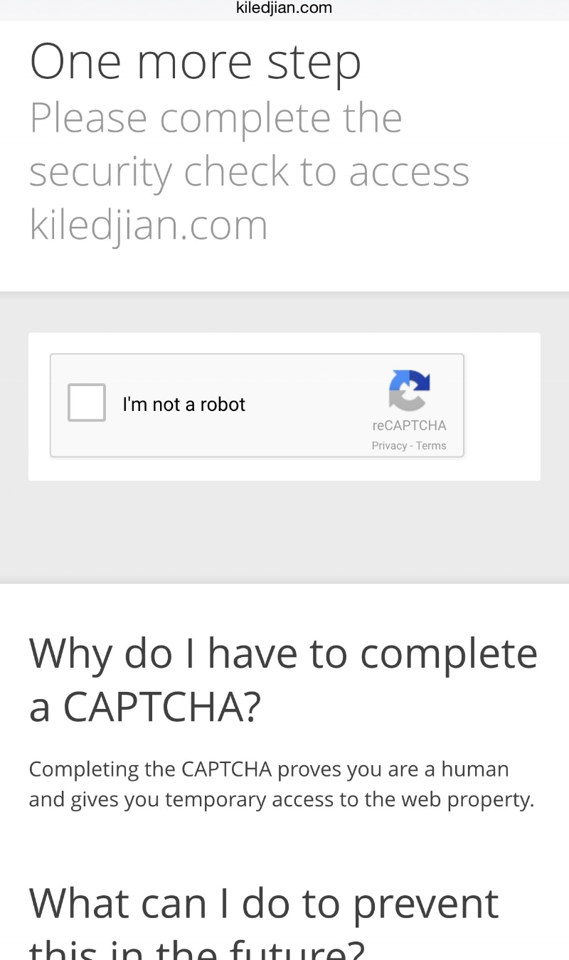 Cloudflare captcha challenge when you access my site via a TOR enabled browser.