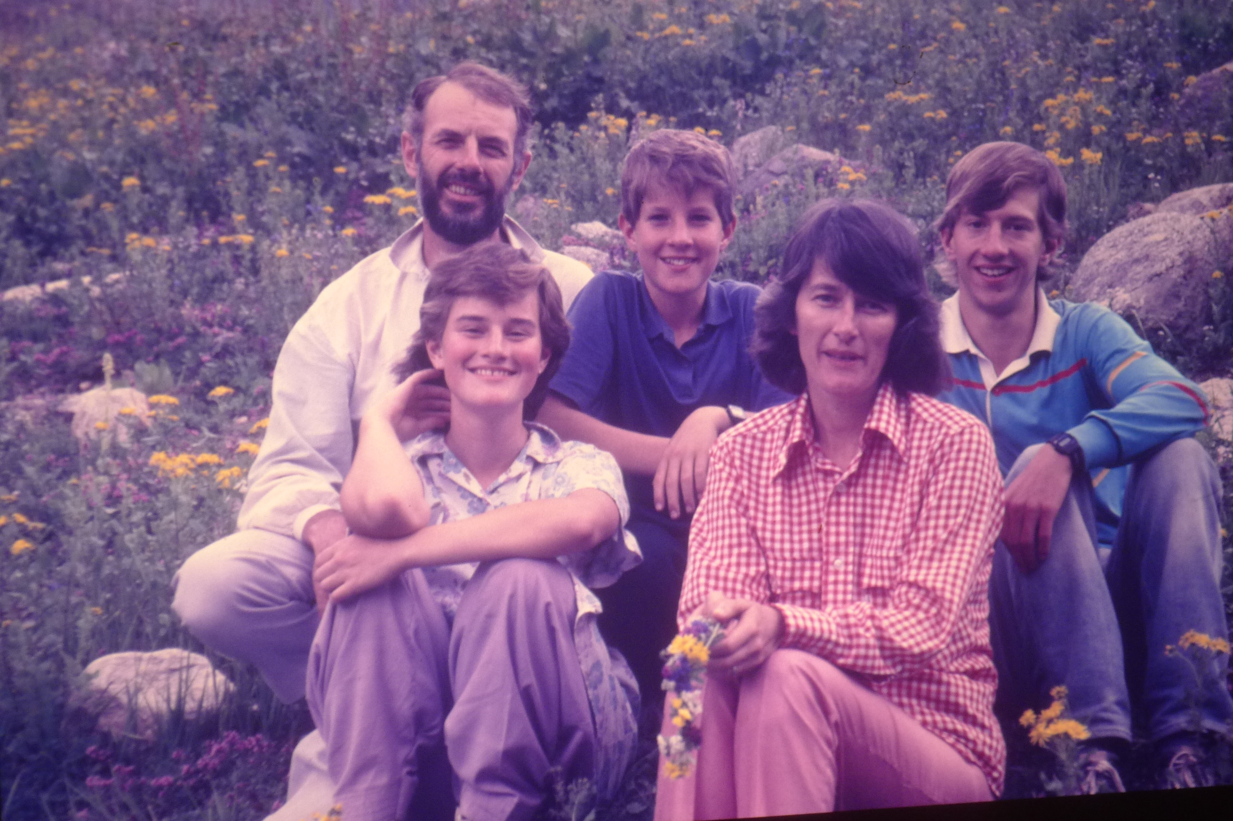 Here's my Extremely Dull family on a mountain outing in northern Pakistan back when I was 13.