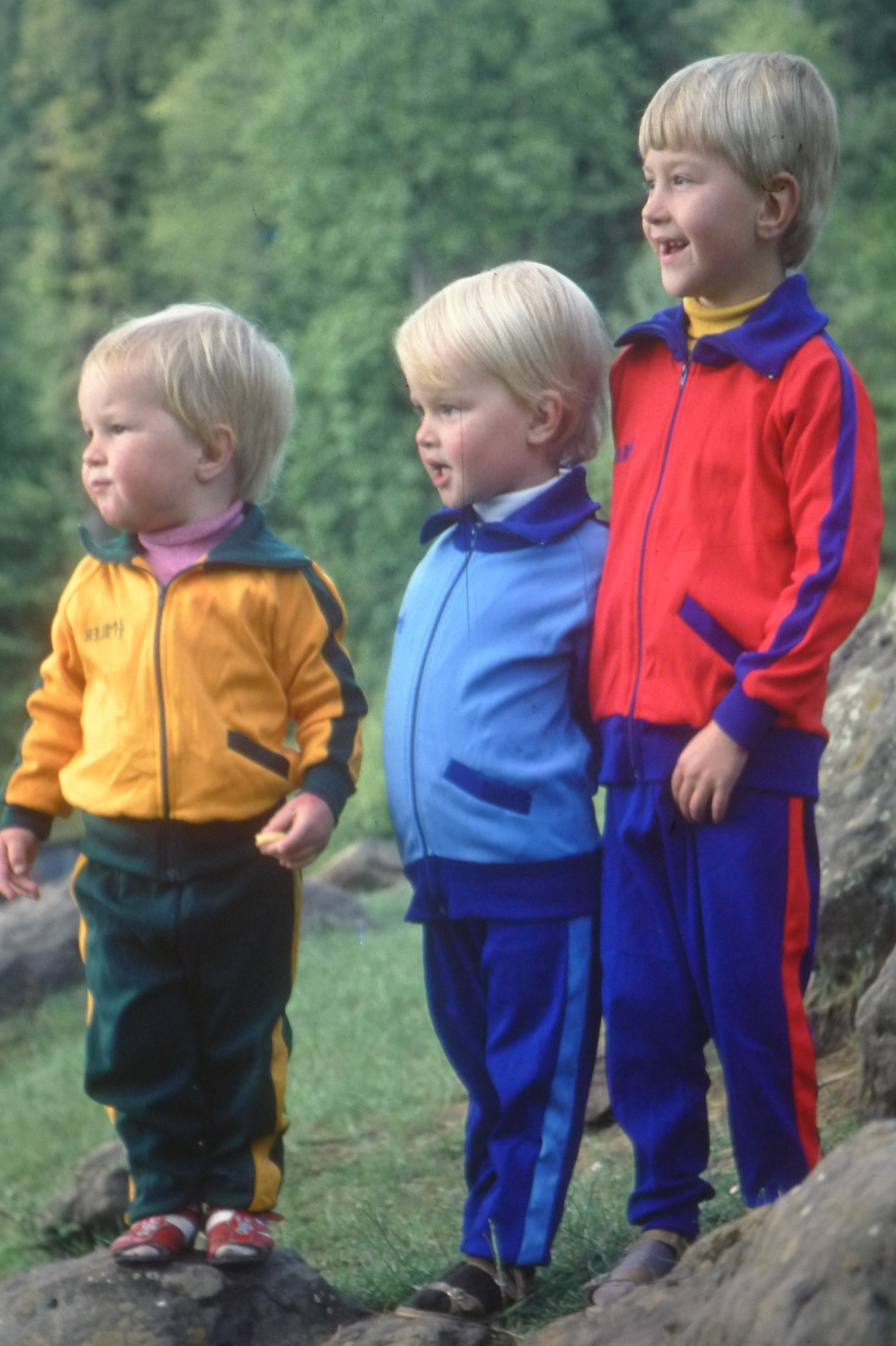 I'm the one in the middle, rocking the blue tracksuit. Obviously, my parents had higher sporting ambitions for us, dressing us like this. Or maybe not. It was the seventies, after all.