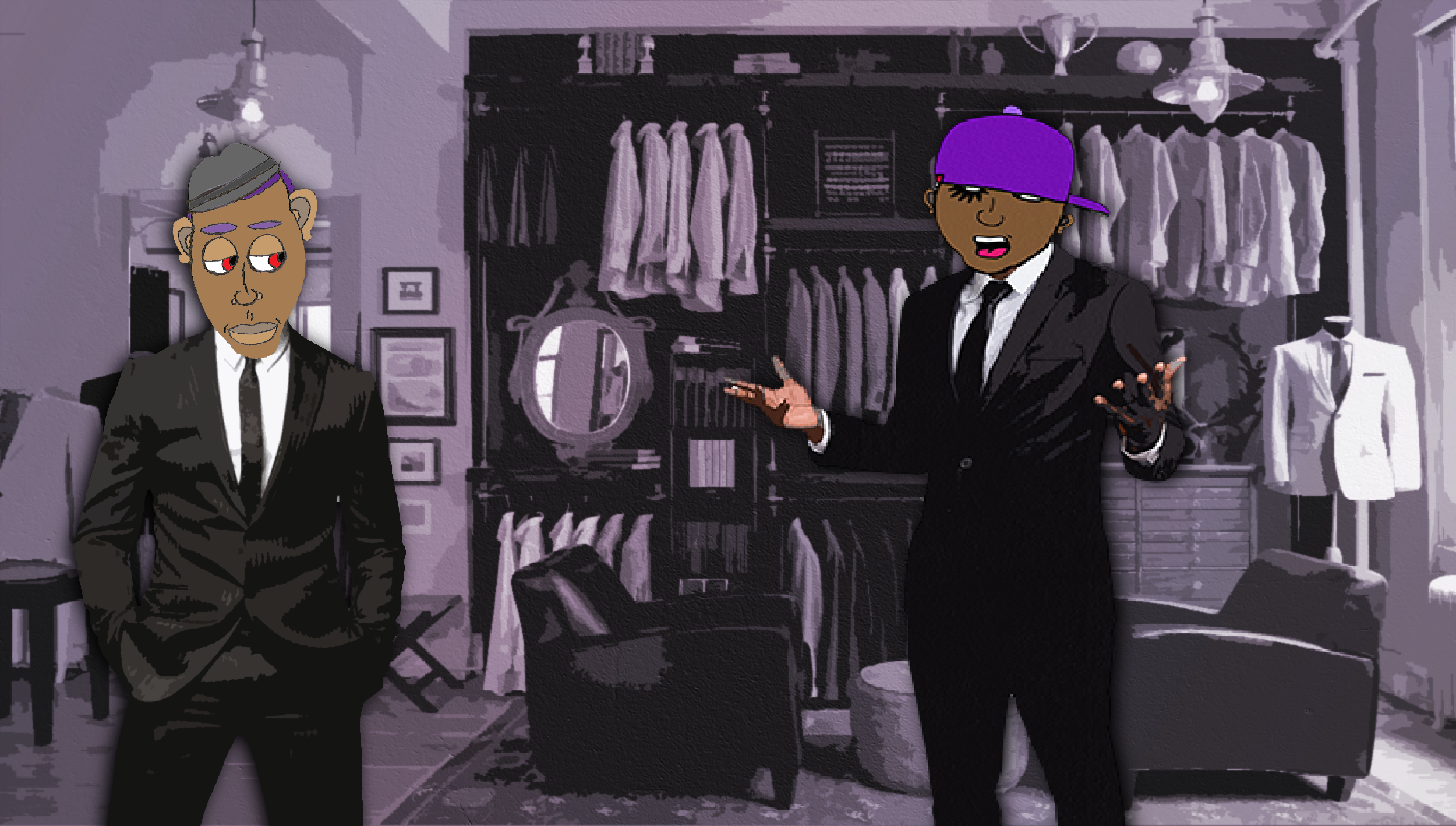BlackDroog meeting with his Tailor.