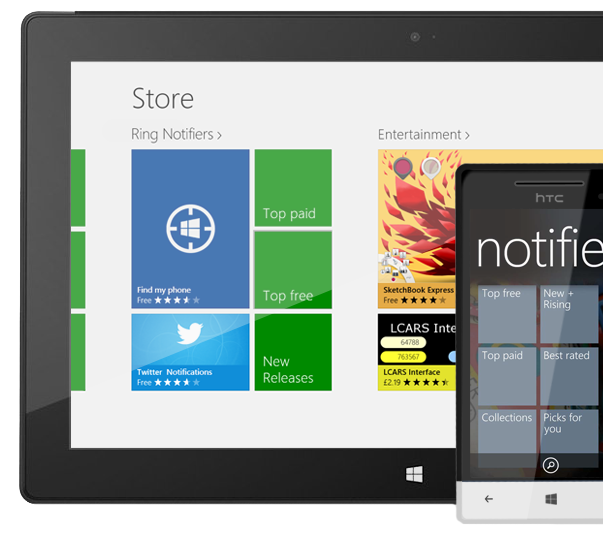 Notifiers  section on WindowsPhone Marketplace