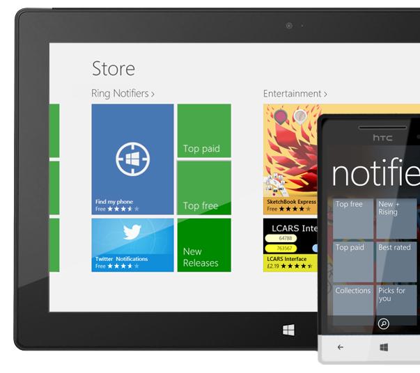 Notifiers  section on WindowsPhone Marketplace